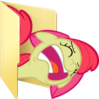 Custom Applebloom folder icon (derp version) by Blues27Xx