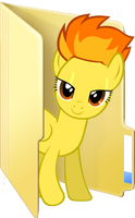 Custom Spitfire folder icon (Suitless) by Blues27Xx