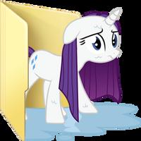 Custom wet Rarity folder icon by Blues27Xx