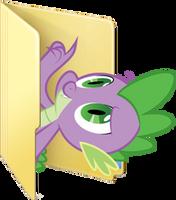 Custom Spike folder icon by Blues27Xx