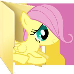 Custom filly Fluttershy folder icon