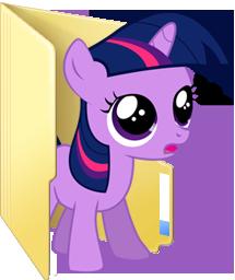 Custom filly Twilight folder icon by Blues27Xx