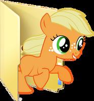 Custom filly Applejack folder icon by Blues27Xx