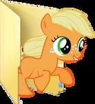 Custom filly Applejack folder icon