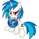 Custom Vinyl Scratch iTunes icon