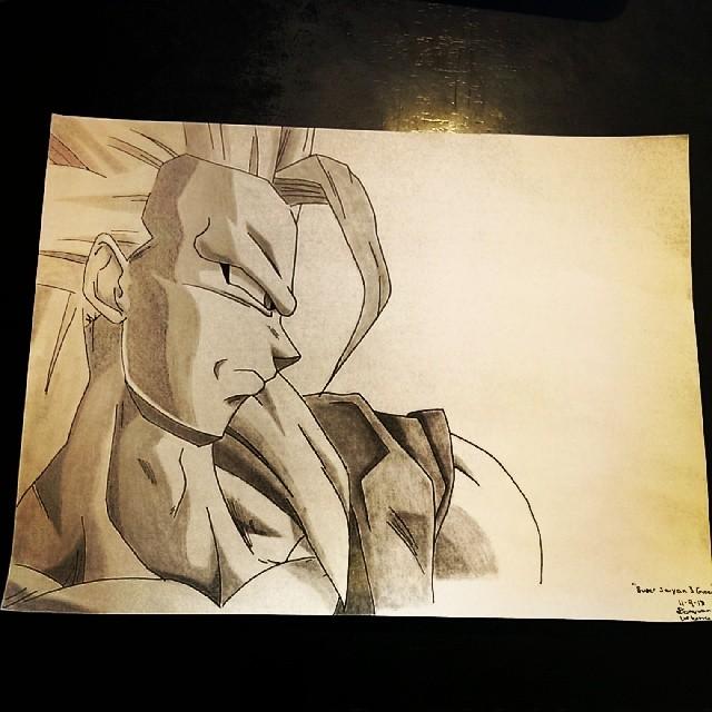Goku Super Saiyan 3 by Kotarou-Kuroshinya
