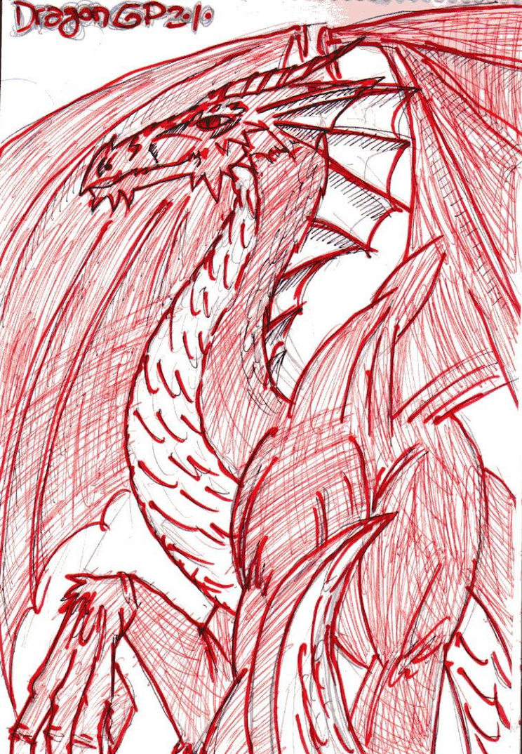 red dragon by gordo-porno