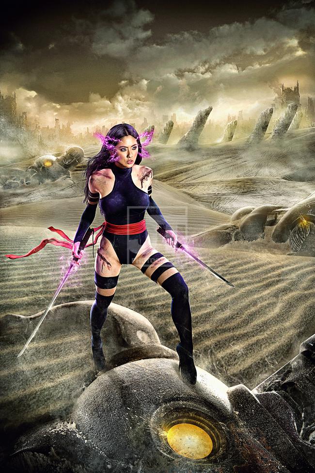 Psylocke in Genosha by jaytablante