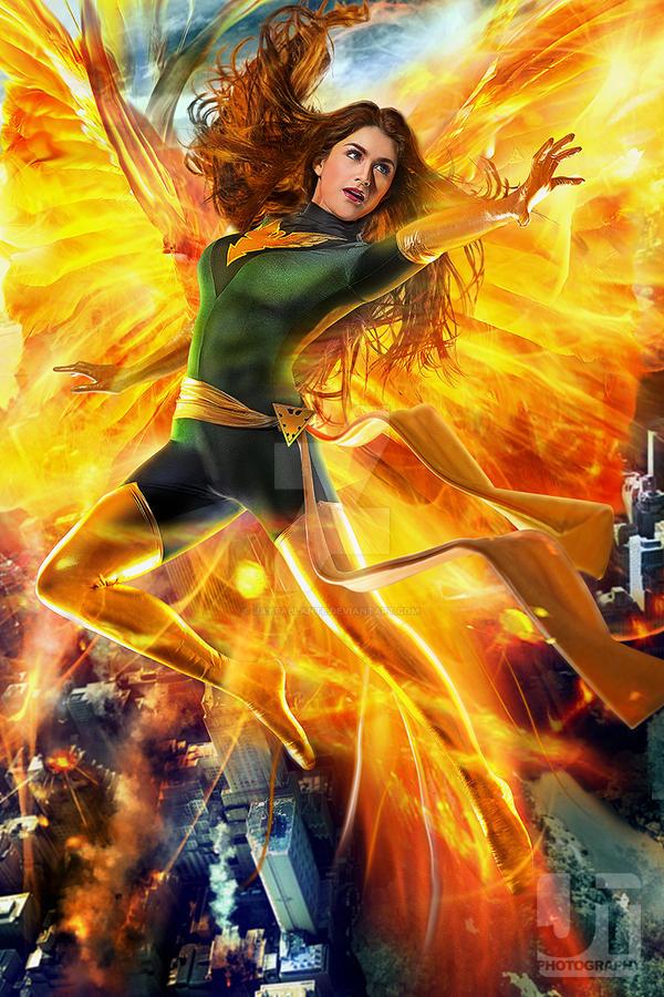 Green Phoenix in the Sky by jaytablante