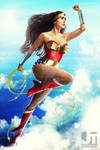 Wonder Woman in Flight
