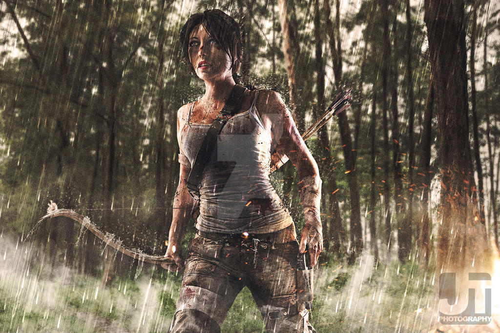 Lara in Rain by jaytablante