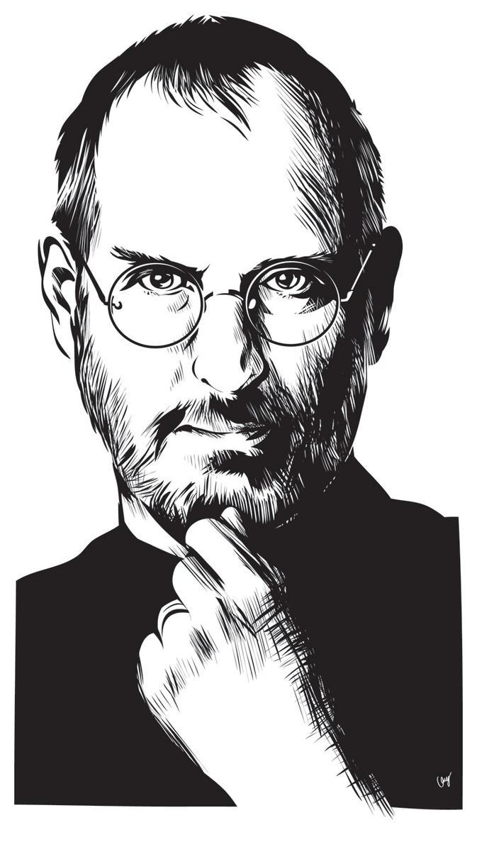 D Line Drawings Jobs : Steve jobs by gabore on deviantart