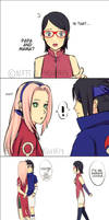 sarada meets the sasusaku in the past by nattouh