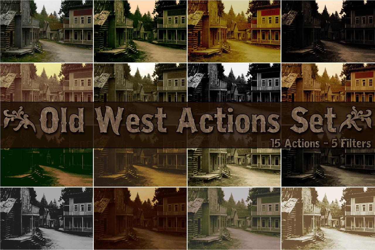 Old West Actions Set.