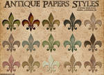 Antique Papers Layer Styles.