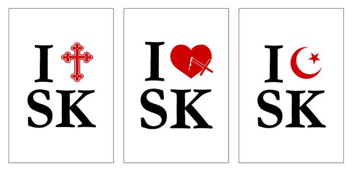 I heart Skopje triptych