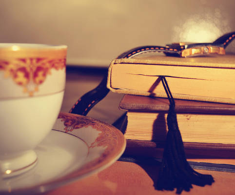books and cup