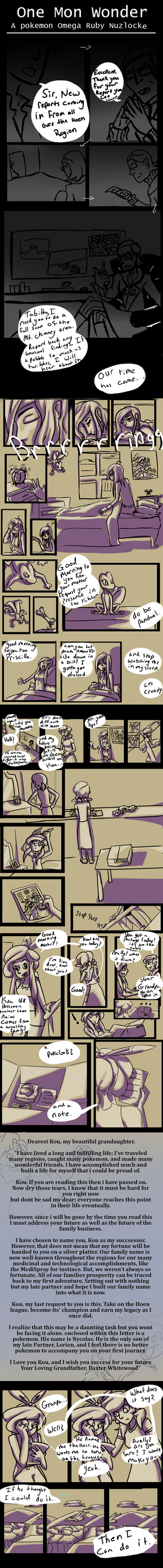 One Mon Wonder: Page 1 -Revamp- by ObsidianMelody