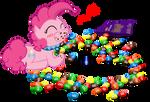 Pinkie Pie's chocolate candies