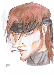 Solid Snake by ElMangafilo