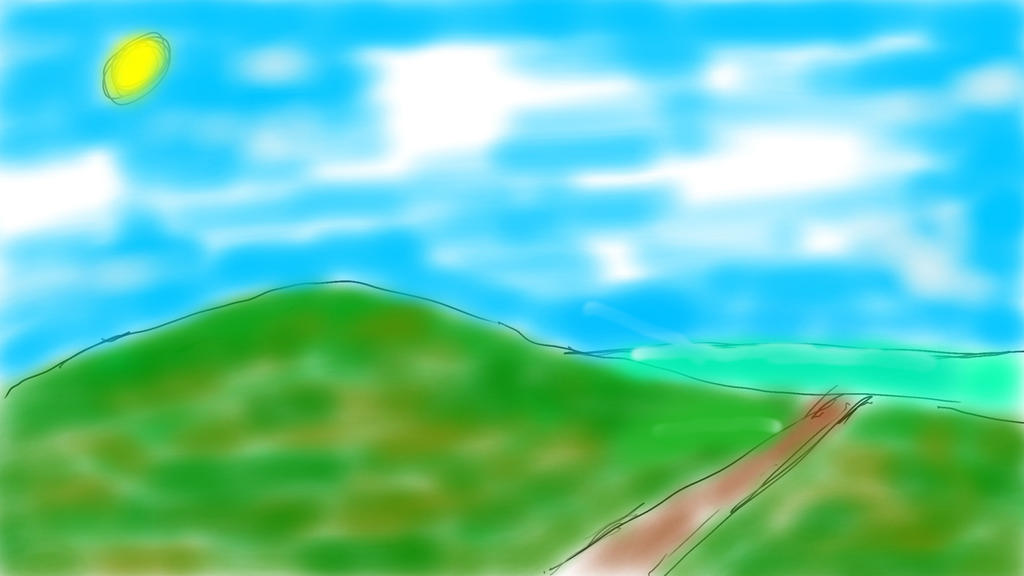 Landscape Doodle By Dextrenchcoat Edited by DexTrenchcoat