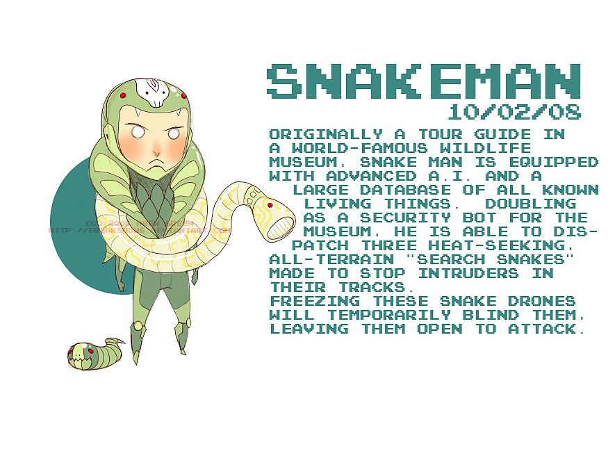 Villain Month - 02 - Snake Man by DrewGreen