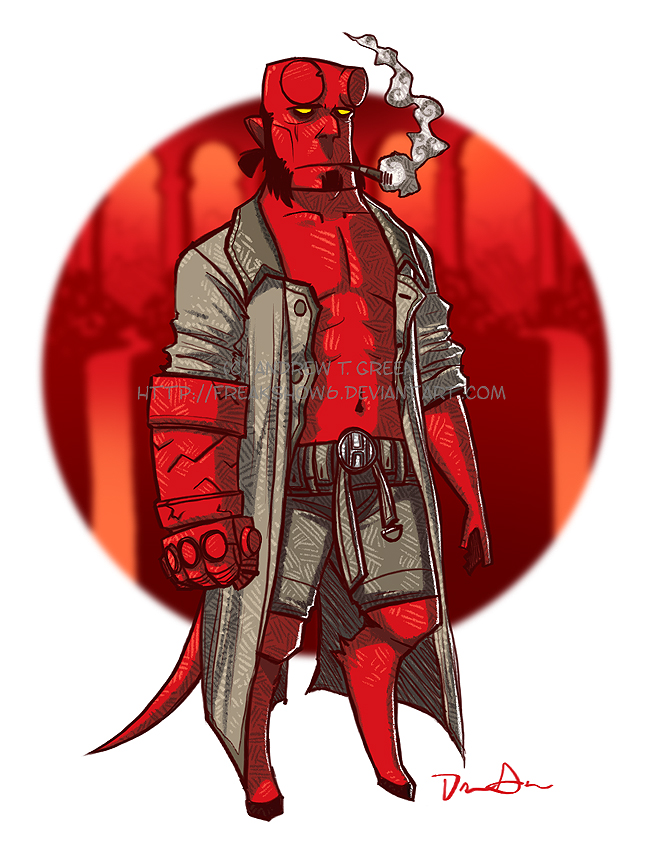 Hellboy for mscorley by DrewGreen