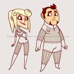 Yoki and Jules - character art