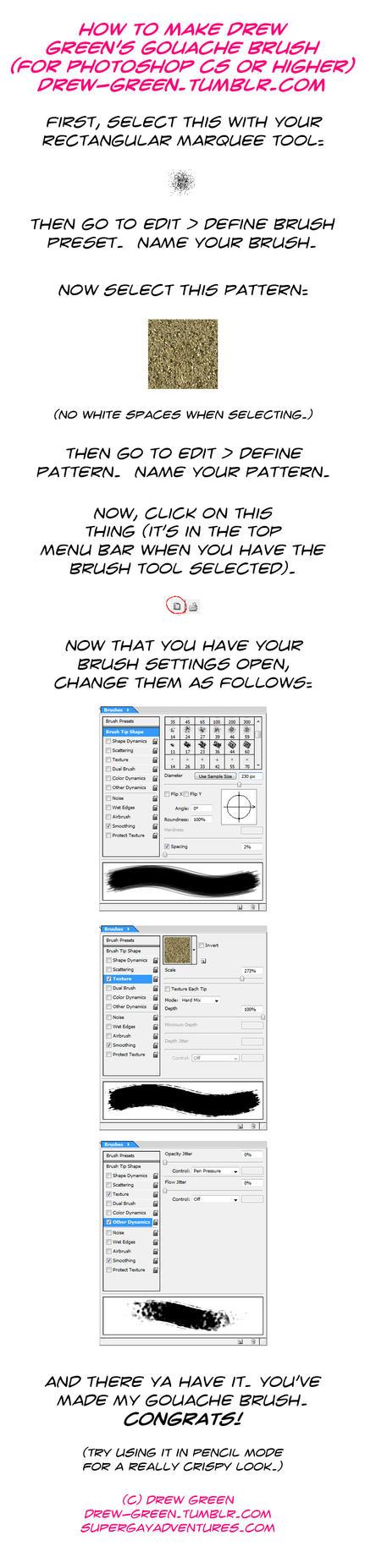 New Gouache Brush Tutorial by DrewGreen
