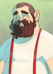 Burly Suspenders Guy