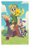 Link and Pikachu - Commission