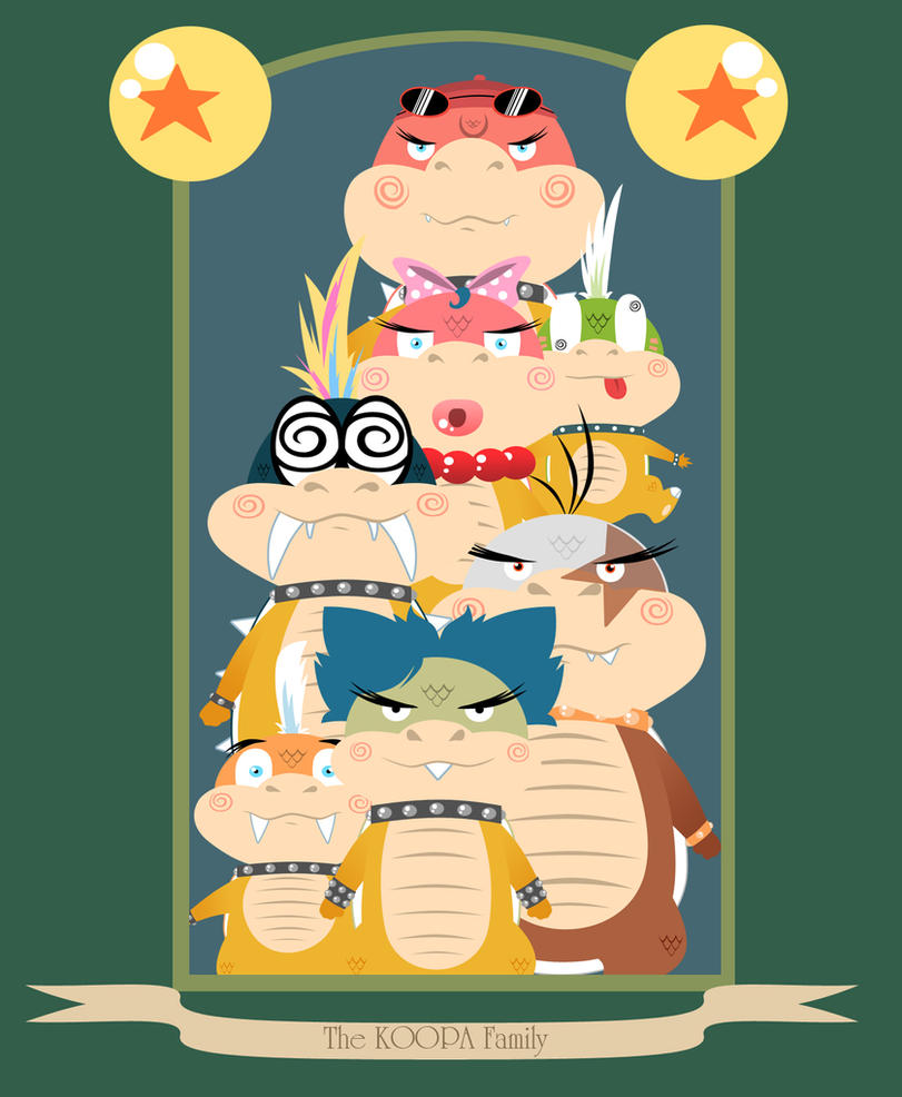 The Koopa Family by DrewGreen