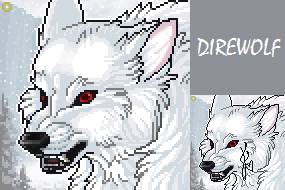 Direwolf Portrait by fudge