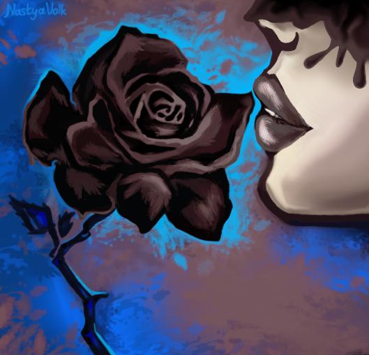 ~ Black rose ~ by Nastya-Volk