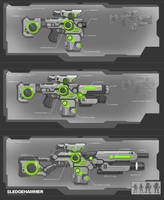 Sci Fi Movie Gun Props Concepts by adamski1616