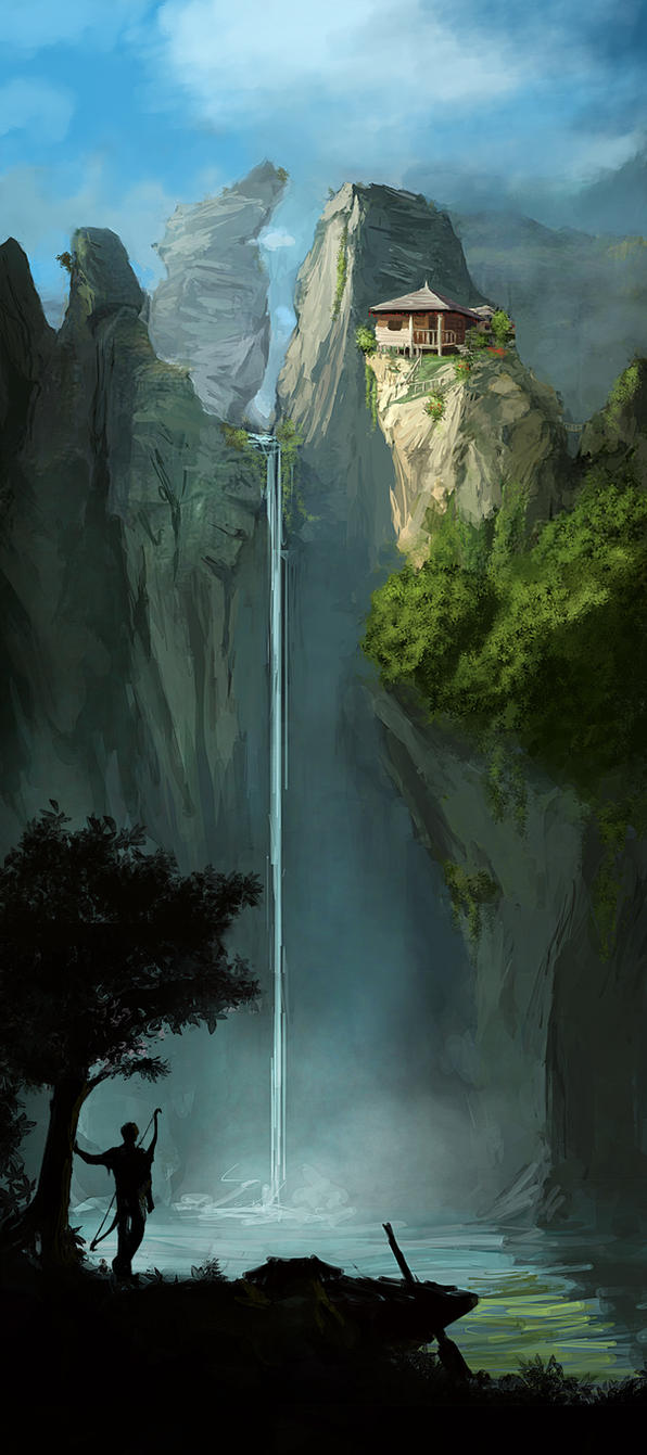 deed deviantart welcome fantasy places waterfall concept paintings magical razvan negrea place fantastical