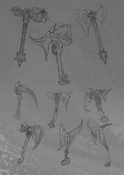 Weapon Concepts Lineart