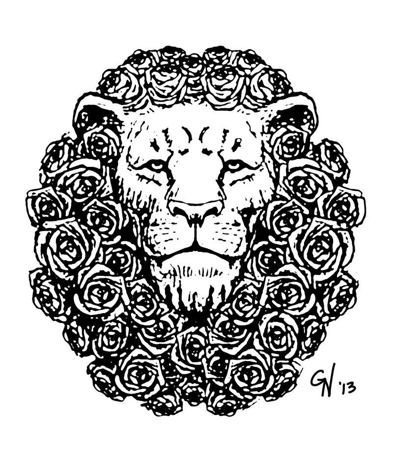 lion rose mane stamp1 by skull droid on deviantart. Black Bedroom Furniture Sets. Home Design Ideas