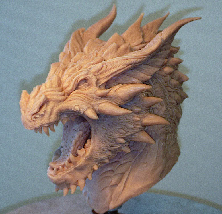 Smaug concept bust by Skull-Droid
