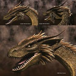 Dragon 3views-95 by Skull-Droid
