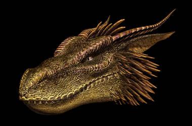 Alias-original-Dragon-head (vintage) by Skull-Droid
