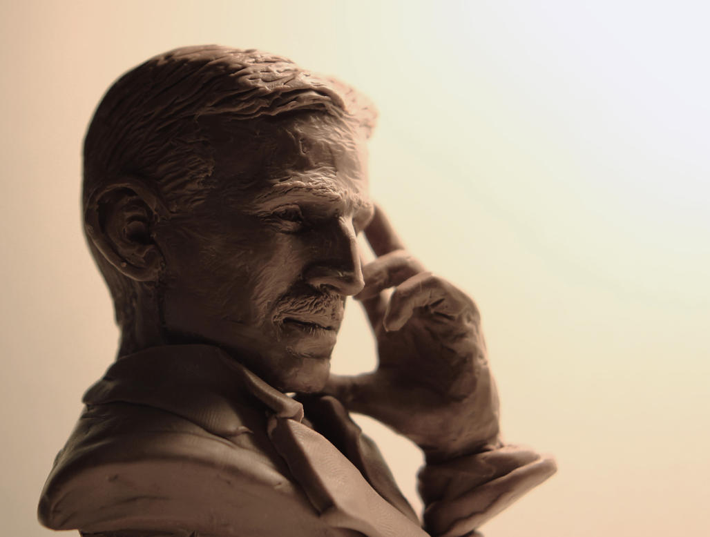 Nikola Tesla mini bust by Skull-Droid
