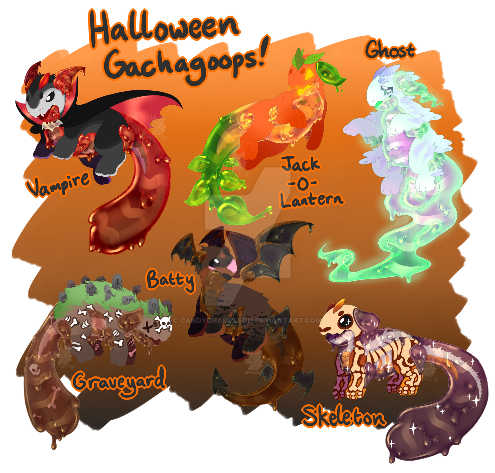 [CLOSED] Halloween Gachagoop Batch! AUCTION