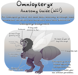 Omniopteryx - Anatomy Guide (READ DESC.) by CandyChameleon