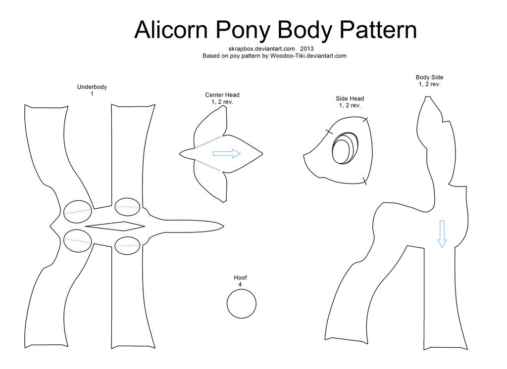 Alicorn pattern body by Skrapbox