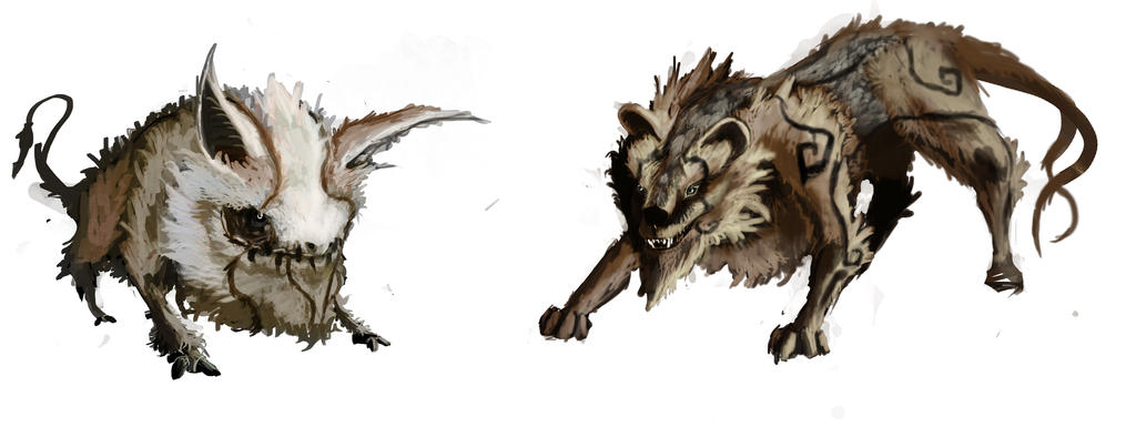 Bat Bull And Tiger Wolf Monster By Chaotickite On Deviantart