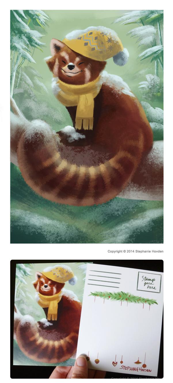 Red Panda Christmas (2014) by kirayukari