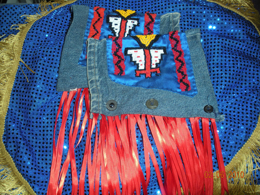 Beaded pow wow cuffs by Vaquero-boy