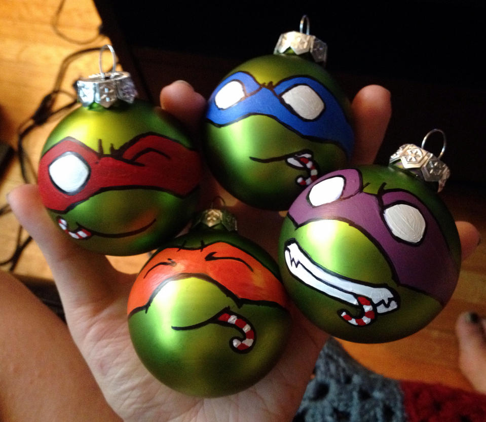Teenage Mutant Ninja Turtle Christmas Ornaments by colacerise on ...