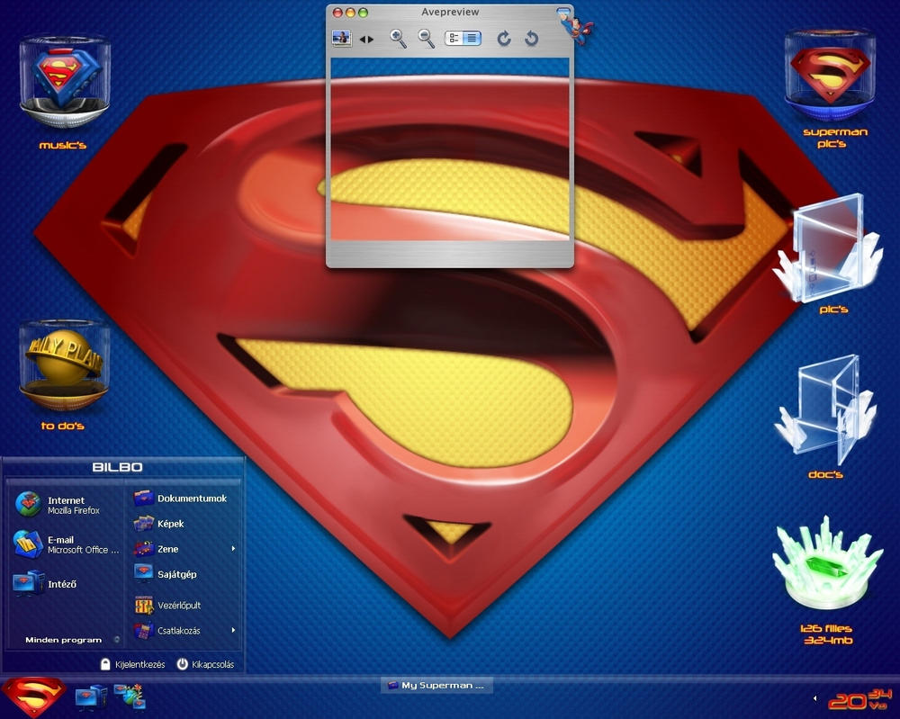 My Superman desk by bilbo2